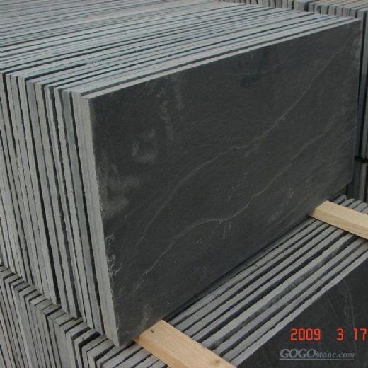 Natural Black Slate Flooring Tiles
