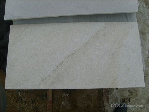 White Quartzite Tiles Floor Covering
